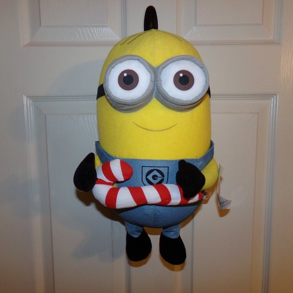 "15"" Candy Cane Despicable Me Minion Plush Toy"